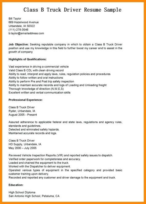 Entry Level Truck Driver Resume Sample Resumesdesign Com