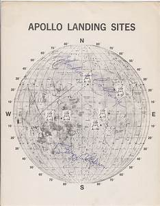 Apollo 11 Crew Signed Official Nasa Moon Landing Sites ...