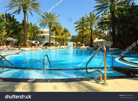 color dslr image resort pool south stock photo 202981336