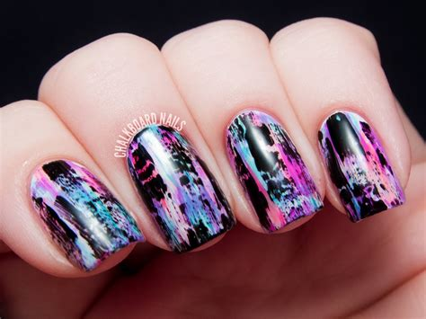 Distressed Nail Art (punk/grungy Effect)