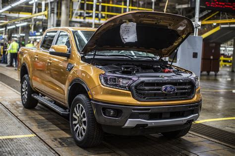 ford ranger   production  michigan arrives
