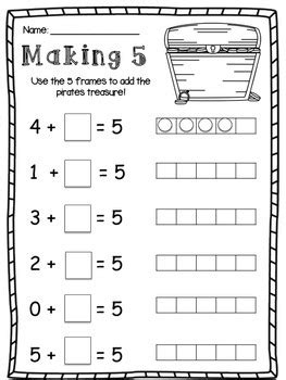 friends of 10 and friends of 5 making 10 and making 5 worksheet