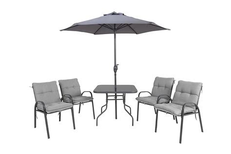 Cranbrook Metal 4 seater Dining table & chairs