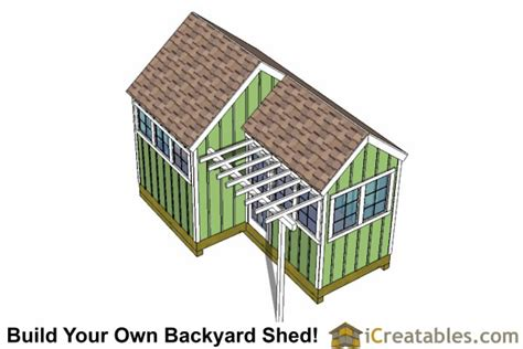 10x8 6x8 garden shed plans