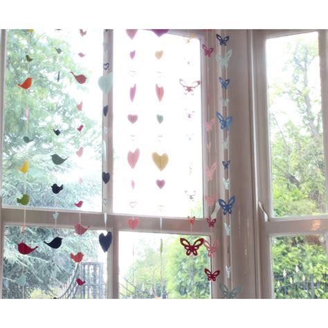 window decorations for decorative hanging paper window garlands 120cm to 140cm length ebay