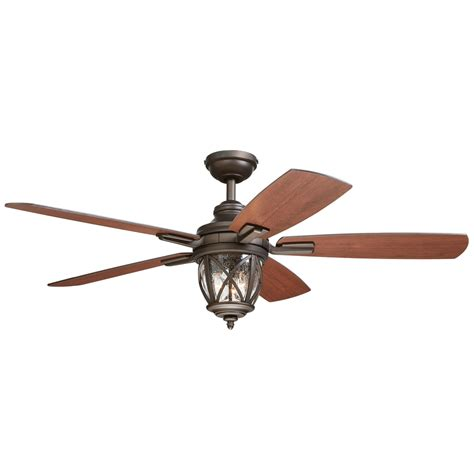 porch ceiling fans with lights shop allen roth castine 52 in rubbed bronze indoor