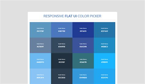 flat color picker responsive flat ui color picker someonlyclub