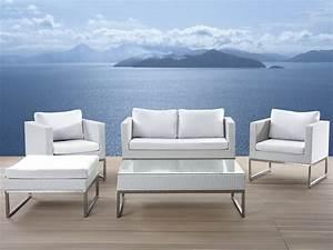 Lounge Auflagen Set : lounge set rattan weiss 5 sitzer auflagen grau crema ~ Eleganceandgraceweddings.com Haus und Dekorationen