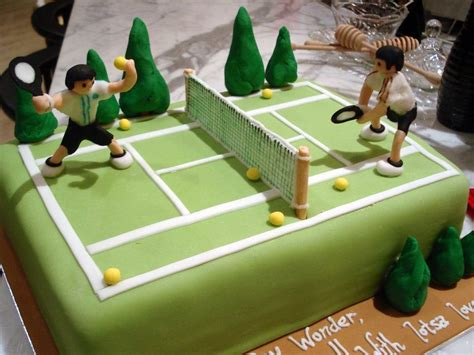 tennis party idea tennis cake titled tennis