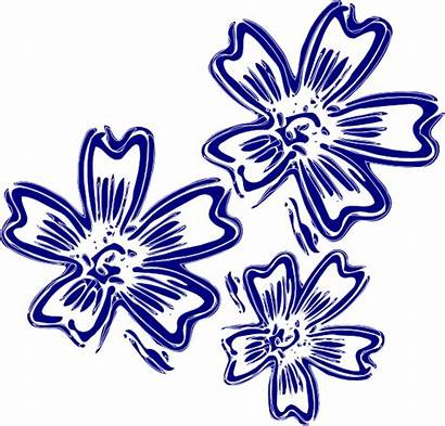 Navy Flowers Clip Clipart Clker Vector Cliparts