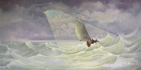 Zeiljacht Schilderen by Atelier For Hope Schilderij De Storm Bijbelse Schilderijen