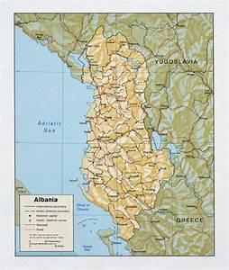 Maps of Albania