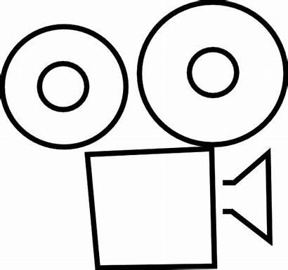 Projector Clip Clipart Reel Film Cartoon Spotlight