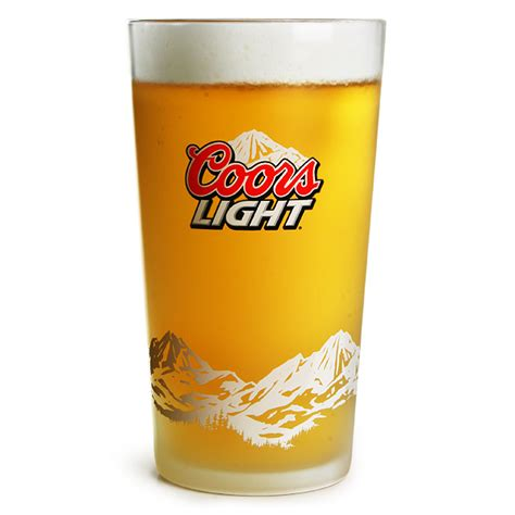 coors light glasses coors light frosted pint glasses ce 20oz 568ml barmans