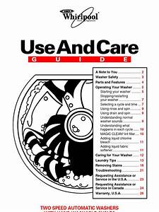 Whirlpool Lsl9244eq0 Use And Care Guide Manual