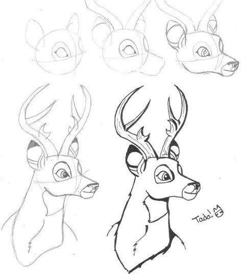 buck step  step drawing   draw  deer step