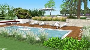 jardin mediterraneen hacienda paysage cote maison With amenagement de piscine exterieur 0 details maison appartement gt amenagement exterieur