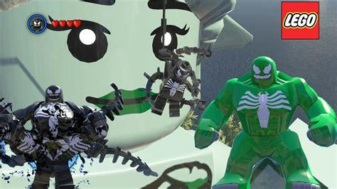 venom transformation vs green venom lego marvel