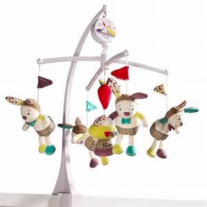 Mobile Musical Pour Bébé : mobile b b musical tinoo de sauthon baby deco sur allob b ~ Teatrodelosmanantiales.com Idées de Décoration