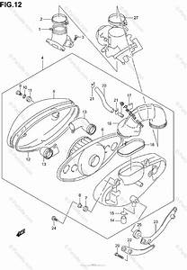 Suzuki Motorcycle 2003 Oem Parts Diagram For Air Cleaner  Model K1  K2  K3  K4