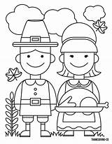 Coloring Thanksgiving Turkey Couple Printable Ready Pilgrims sketch template