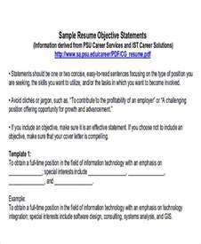 6 exle resume objective free sle exle format