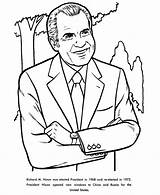 Coloring Nixon Richard Pages Facts President Presidents Printable Henry Printables John Reconciliation Usa Patriotic Print Activities Presidential States United Go sketch template