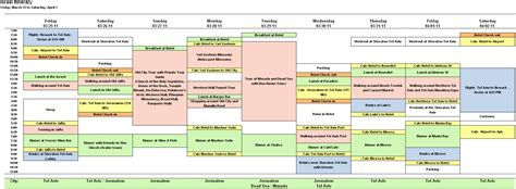Trip Planning Itinerary Template by Outstanding Travel Itinerary Template Sle To Holy Land