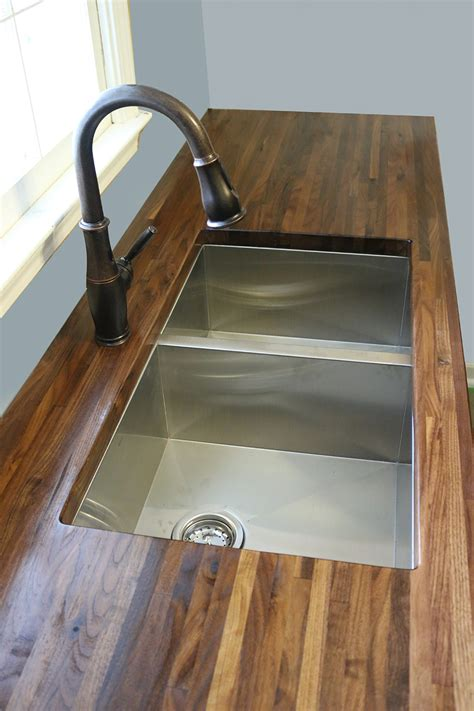 how to cut out a kitchen sink how to cut seal install butcherblock countertops with