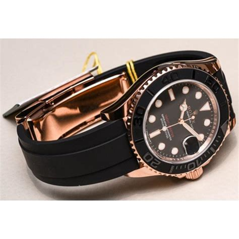 Yacht Master Rubber by Jam Tangan Rolex Yacht Master Rubber Gold