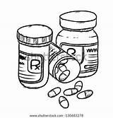Pills Candidiasis sketch template