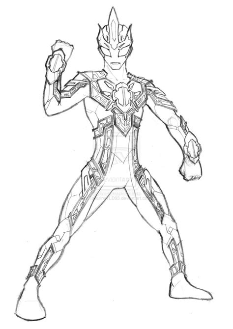 Coloring Ultraman Pictures by Ultraman Zero Free Coloring Pages
