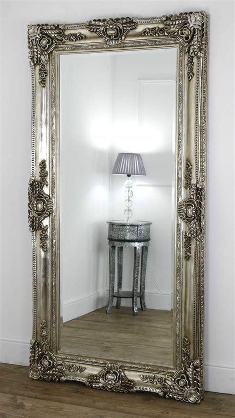 floor mirror vintage ella chagne silver ornate leaner vintage floor mirror 80 quot x 40 quot x large floor mirror
