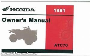 1981 Honda Atc70 Atc Three Wheeler Owners Manual   3195704