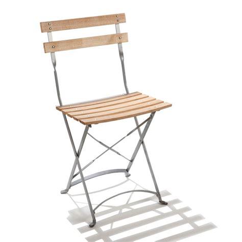 chaise pliante en bois chaise pliante de jardin en acier et bois square doublet