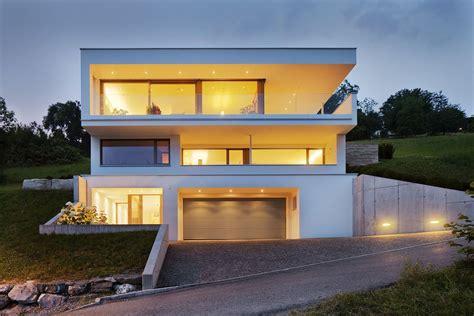 Moderne Haus Planung by Einfamilienhaus Hanghaus Klaus Modern Edelstahlpool