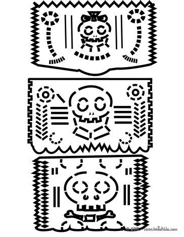 butterfly coloring sheets : Muertos Dead Craftstreats Kids