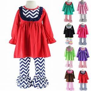 Aliexpress.com  Buy Wennikids Little Girls Chevron Bib Dress and Ruffle Pants Legging Two Piece ...
