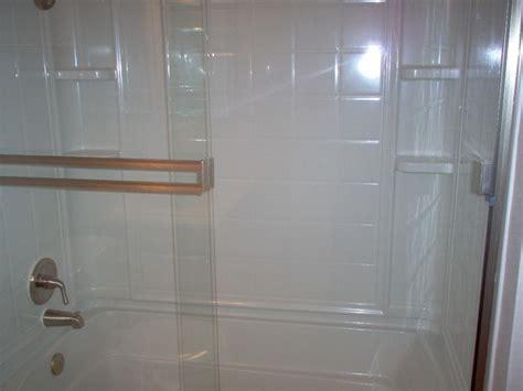 fiberglass bathtub shower combo fiberglass 4 combo tub shower with brushed nickel