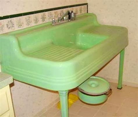 green kitchen sinks farm pink standard plumbing fixtures the 1434
