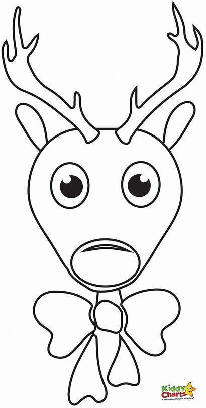 Rudolph Reindeer Coloring Face Colouring Head Printable