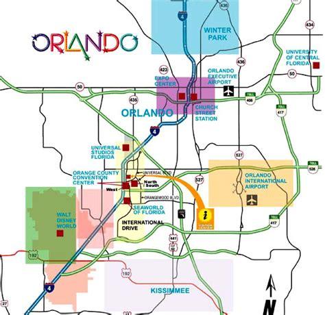 orlando florida map  printable maps