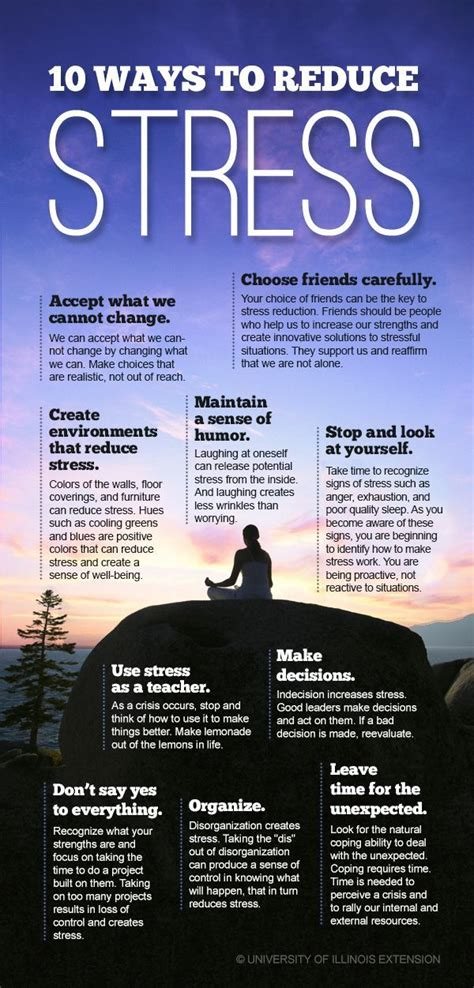 10 Ways To Reduce Stress — Improve Your Mental, Emotional, And Physical Wellbeing! #infographic
