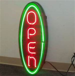 Neon open sign Open signs and Neon on Pinterest