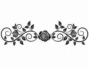 Rosen Tattoos Schwarz : wandtattoo rosenranke mit bl tter wandtattoo rosen ranke ~ Frokenaadalensverden.com Haus und Dekorationen