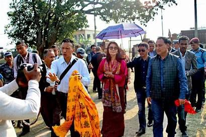 Queen Bhutan Mother Land Visits King Buddha