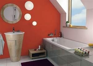 Salle De Bain Orange : peinture pour salle de bain id es l gantes et conseils utiles ~ Preciouscoupons.com Idées de Décoration