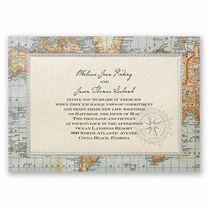 antique world map invitation invitations by dawn With sample wedding invitation maps