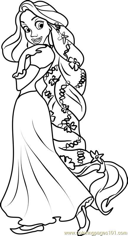 princess rapunzel coloring page  disney princesses coloring pages coloringpagescom