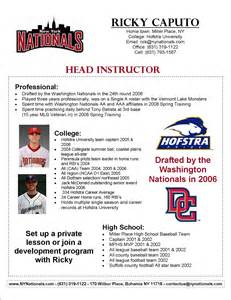 Professional Baseball Player Resume by Baseball And Softball Instructors Baseball Tips Invitations Ideas